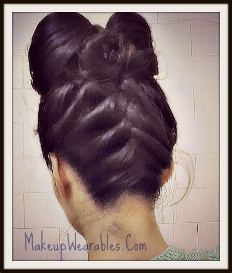 hair cut upside down short hair double hair bow upside down french braid hairstyle with
