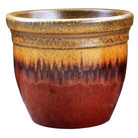 shop garden treasures red ceramic planter at lowes com