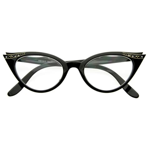 vintage cateyes 80s inspired fashion clear lens cat eye