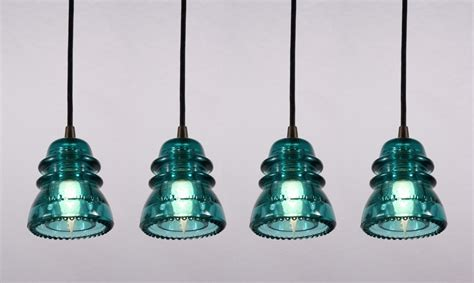 Industrial Pendant Lights Made From Antique Glass Antique Insulator Pendant Lights