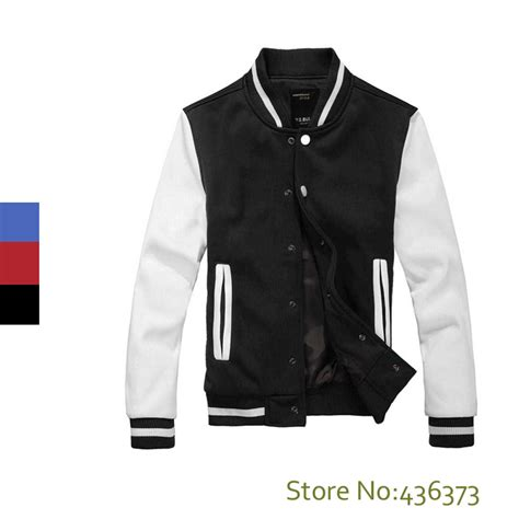 design jacket online free high quality mens casual classic simple design letterman