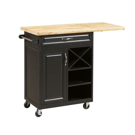 1 drawer laminate kitchen cart with large worktop in