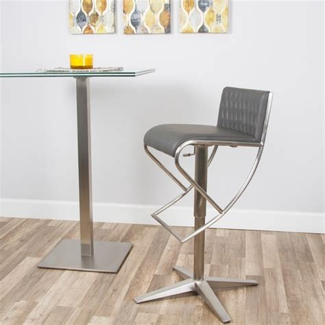 patterned counter height stools brushed stainless steel x base pattern low back