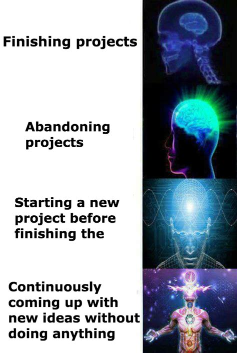 Meme Brain - the creative process expanding brain know your meme