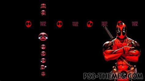 ps4 themes deadpool ps3 themes 187 deadpool