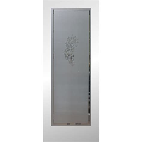 Interior Doors Frosted Glass Shop Reliabilt Primed Solid Frosted Glass Slab Interior Door Common 24 In X 80 In Actual