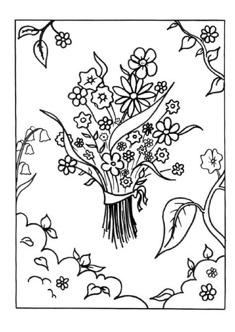 Coloriage Bouquets De Fleurs Coloriage Bouquet De Fleurs A Imprimer Dans Les Coloriages St L