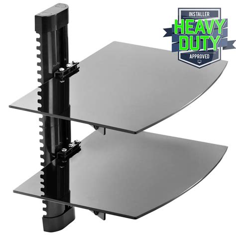 Tv Component Shelf Wall Mount by Floating Wall Mount 2 Shelf Av Dvd Component Console Glass