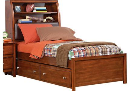 boulder chocolate 4 pc full poster bedroom boys bedroom trundle beds with bookcases shop bookcase trundle bed deals