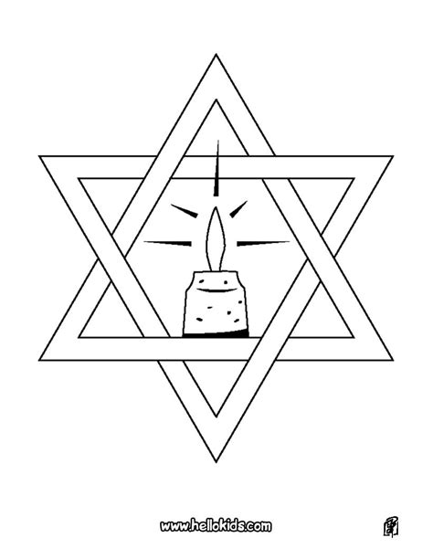 coloring page of star of david star of david coloring pages hellokids com