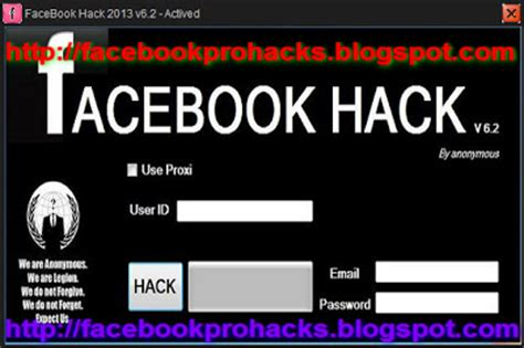tutorial pro facebook hack v 1 5 facebook pro hacks facebook hack 2013 v6 2