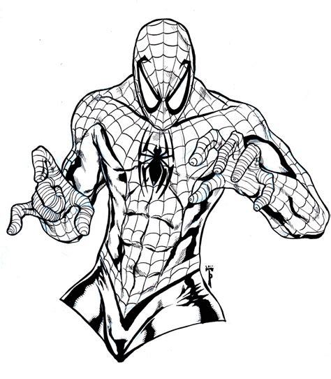 free printable spiderman coloring pages kids