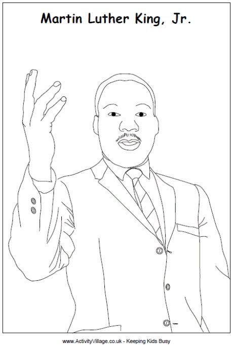 martin luther king jr line drawing
