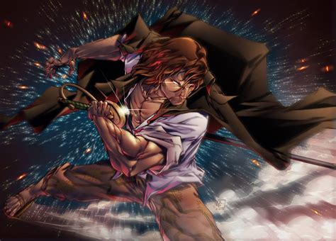 red haired pirate shanks daily anime art