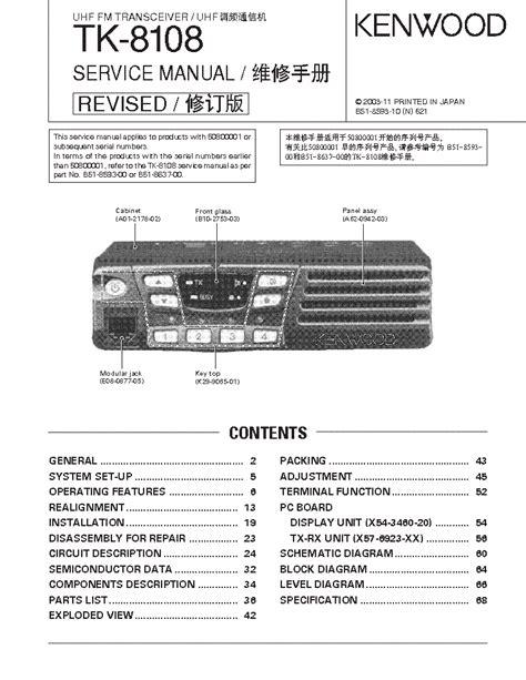 Kenwood Tk 3140 Service Manual Free Download Schematics