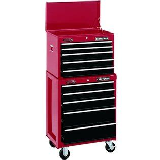 craftsman black 5 drawer tool chest craftsman 26 quot wide 5 drawer ball bearing top chest red black
