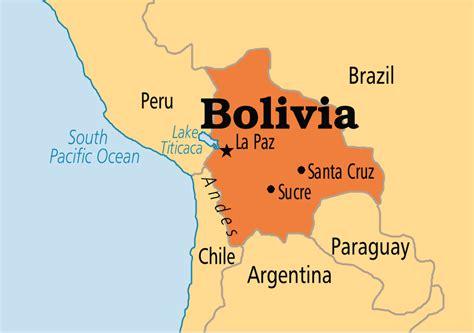 map of bolivia bolivia operation world