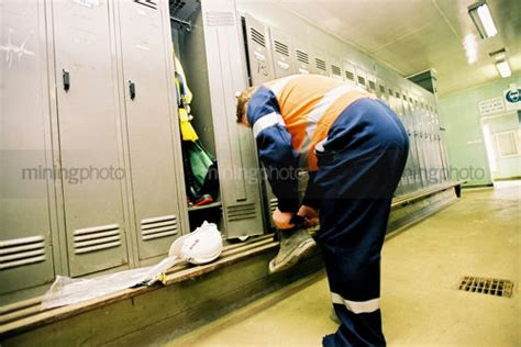 changing in locker room mining photo mining resource stock library mining stock photography image library