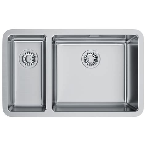 franke stainless steel sinks undermount franke kubus kbx 160 45 20 stainless steel undermount