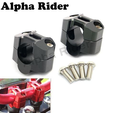 Dirt Bike Atv 1 1 8 Cnc Handlebar Mount Ter Cl Riser For Honda cls 22mm 7 8 quot 1 1 8 quot 28mm bars cnc handlebar risers drag bar adapters for triumph honda