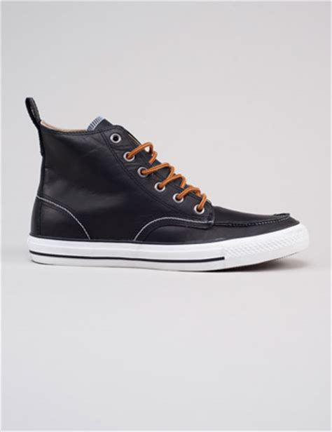 converse black leather boots of the week