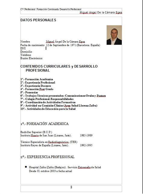 Modelo Curriculum Vitae Veterinario Modelo De Curriculum Vitae Tecnico Radiologo Modelo De Curriculum Vitae