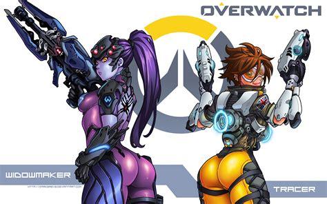 Overwatch Girls K Ultra Hd Desktop Wallpaper Sexy Hot Widowmaker Tracer