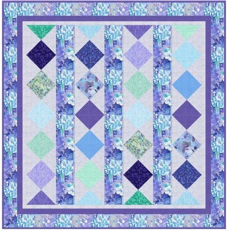Lagoon Quilt by Inspired By Fabric Feeling Rejuvenated With Lagoon