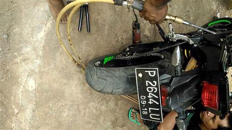 Colokan Oli Yamaha Byson Original memasang footstep original new honda sonic di yamaha new vixion fz150i