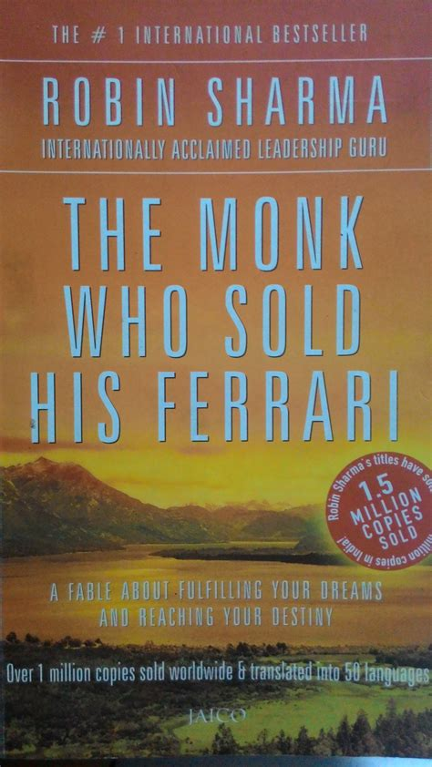 the monk who sold his reading monk who sold his the robin sharma review