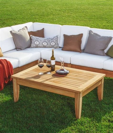 teak sectional patio furniture atnas grade a teak outdoor sectional sofa set beachfront