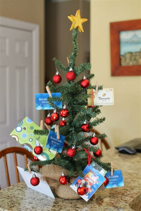 gift card christmas tree christmas pinterest