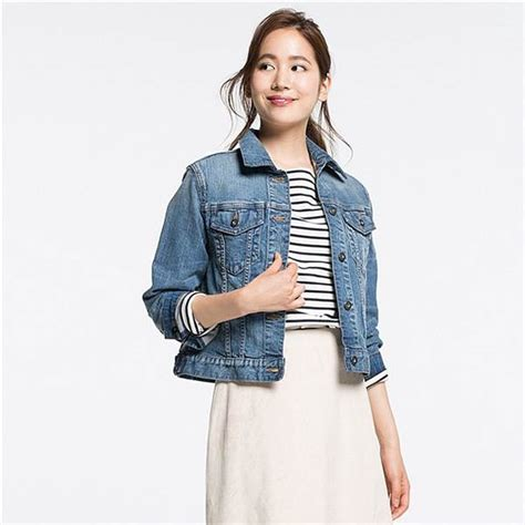 Jaket Denim Uniqlo fall denim jackets distressed patches oversized and
