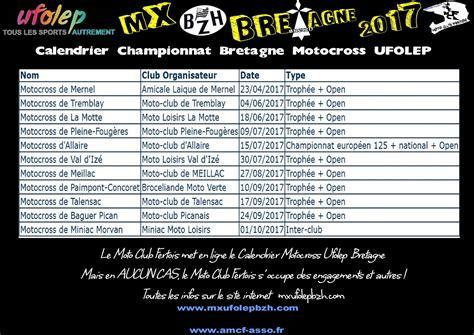 Calendrier Ufolep Calendrier Motocross Ufolep 2017 Normandie Pays De Loire