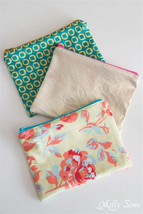 pattern for zippered pouch how to sew a zipper pouch tutorial melly sews