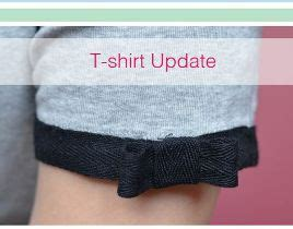 Contrast Trim Bow Shirt tutorial add contrast trim and a bow to a t shirt sleeve