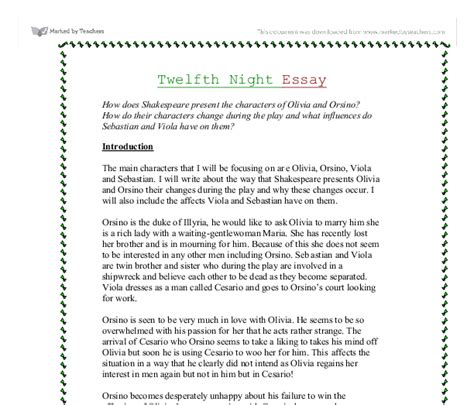 William Shakespeare Essay Topics by William Shakespeare Essay