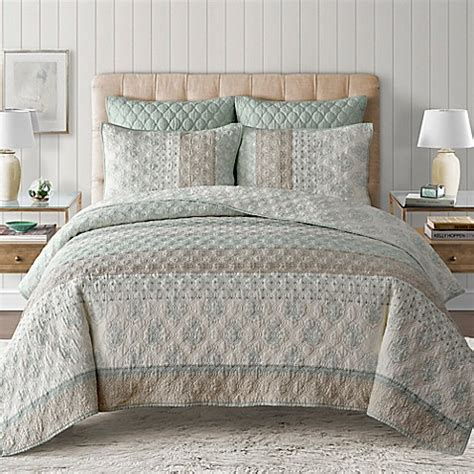 bed bath beyond quilts kala quilt in seafoam bed bath beyond