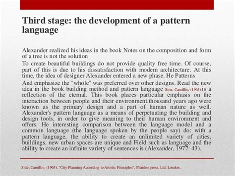 he pattern language and its enemies analytical approach on design theories of christopher