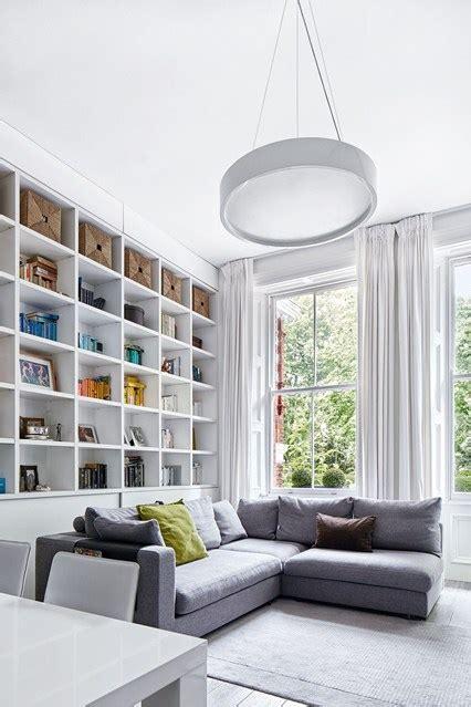 Flat Living Room by Modern Flat Living Room Bookshelf Wall Small Flat Ideas Houseandgarden Co Uk