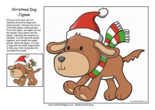 printable christmas jigsaw puzzles dog printables