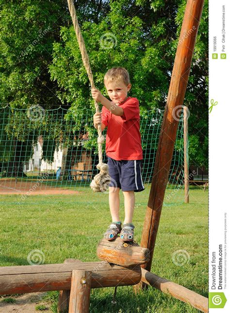 Child On Rope Swing Stock Photo Image Of Relaxation