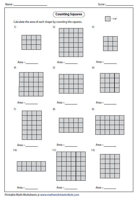 html set printable area area worksheet 3rd grade free worksheets library