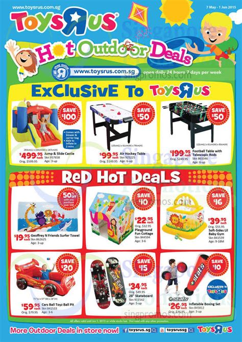 foosball table toys r us toys r us outdoor deals promotion 7 may 1 jun 2015