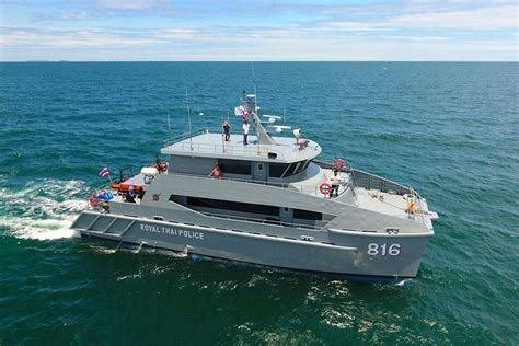 how does a catamaran ferry work royal thai police take delivery of 24m catamaran patrol boats