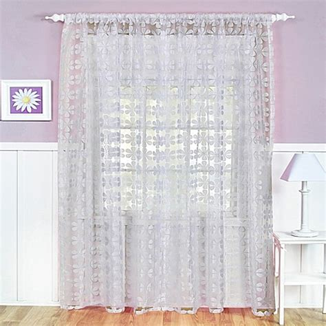 electric window curtains buy flower power sheer rod pocket 84 inch window curtain