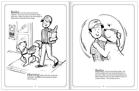coloring pictures of service dogs coloring book to support local veterans and shelter dogs
