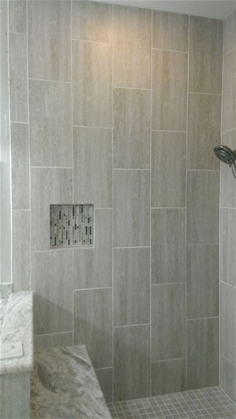 vertical tile bathroom master bathroom complete remodel 12 quot x 24 quot vertical tile