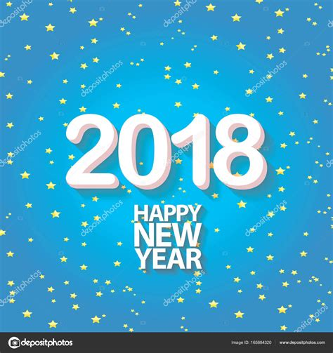 new year design 2018 2018 happy new year creative design blue greeting card