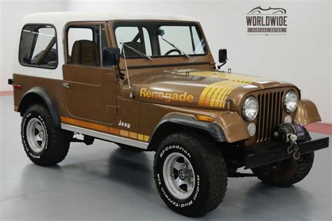 brown jeep renegade brown 1980 jeep renegade